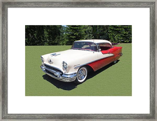 1955 Oldsmobile Super 88 Holiday Framed Print