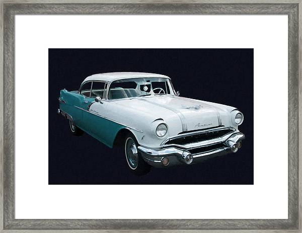 1956 Pontiac Star Chief Digital Oil Framed Print