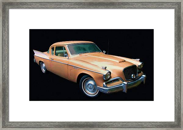 1957 Studebaker Golden Hawk Digital Oil Framed Print