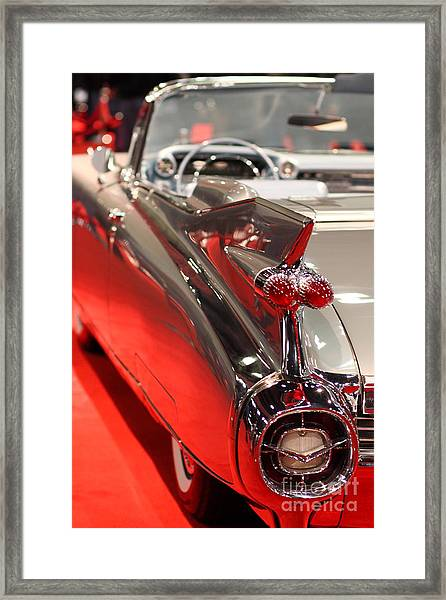 1959 Cadillac Convertible . Wing View Framed Print