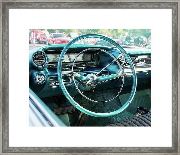1959 Cadillac Sedan Deville Series 62 Dashboard Framed Print