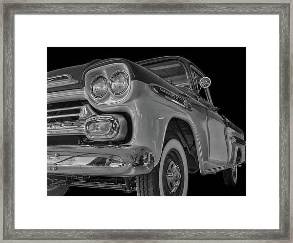 1959 Chevrolet Apache - Bw Framed Print