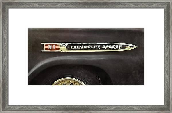 1959 Chevy Apache Framed Print