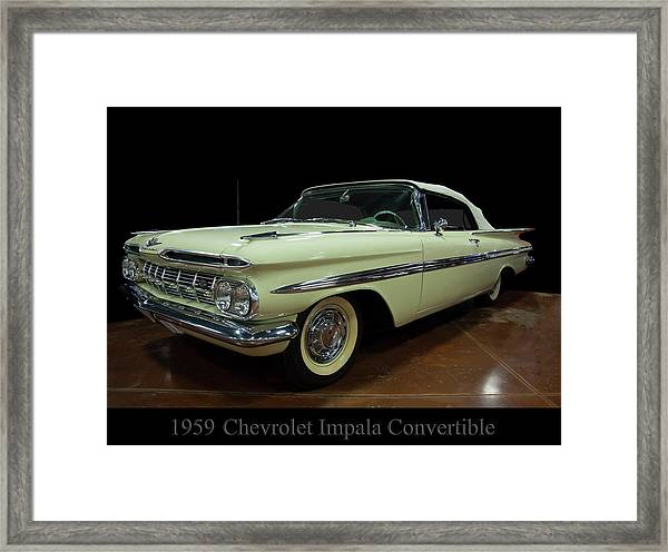 1959 Chevy Impala Convertible Framed Print