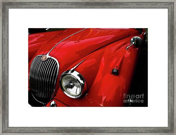 Red Jaguar Framed Print
