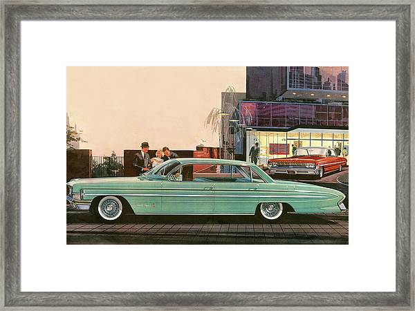 1960s Usa Oldsmobile Magazine Advert Framed Print