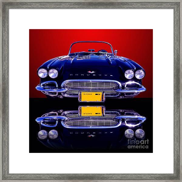1961 Chevy Corvette Framed Print