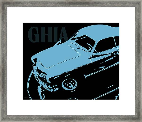 1962 Karmann Ghia Pop Art Blue Framed Print
