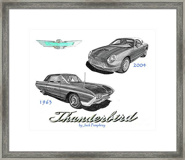 1963 And 2004 Thunderbirds Framed Print