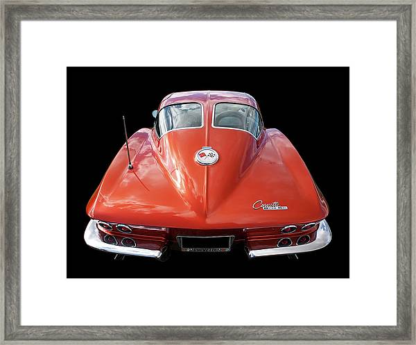 1963 Corvette Stingray Split Window Rear Framed Print