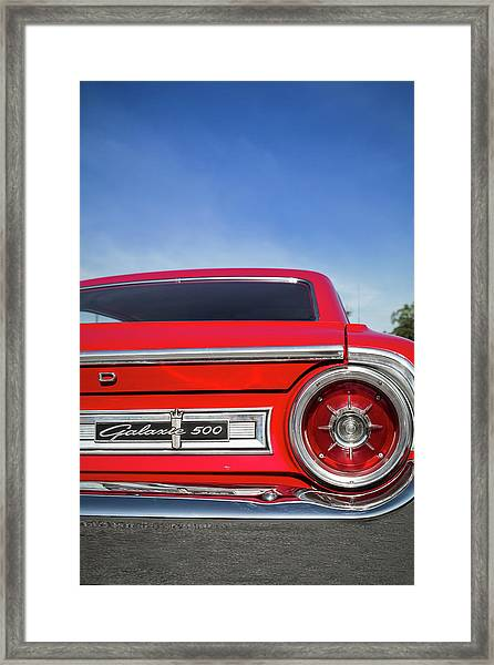 1964 Ford Galaxie 500 Taillight And Emblem Framed Print