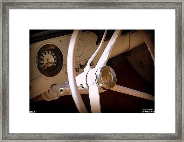 1966 Ford F100 Interior Framed Print