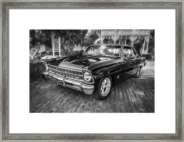 1967 Chevrolet Nova Super Sport Painted Bw 1 Framed Print