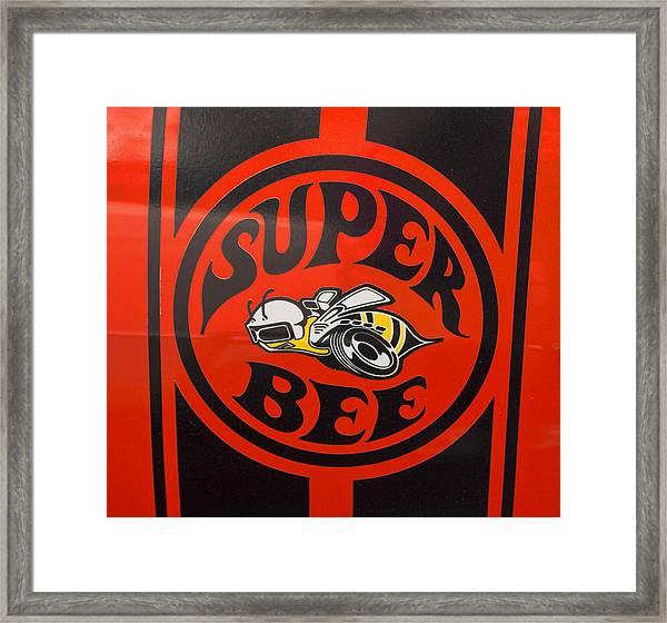 1968 Dodge Coronet Super Bee Emblem Framed Print