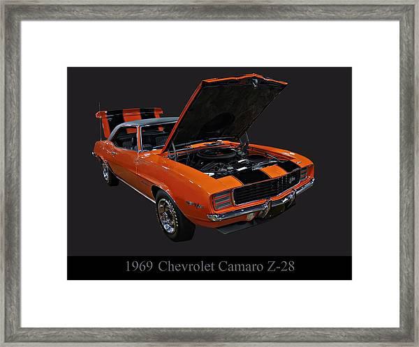 1969 Chevy Camaro Z28 Framed Print