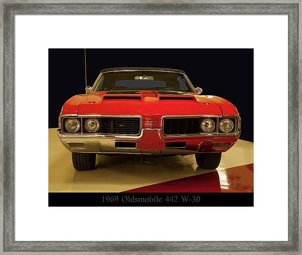 1969 Oldsmobile 442 W-30 Framed Print
