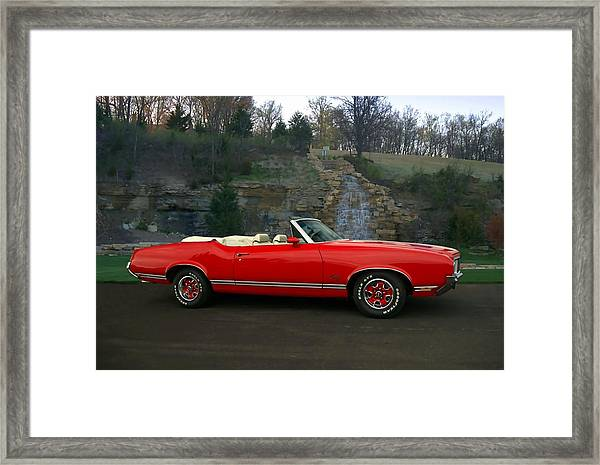 1970 Oldsmobile Cutlass Supreme Convertible Framed Print
