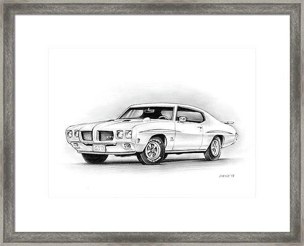 1970 Pontiac Gto Judge Framed Print