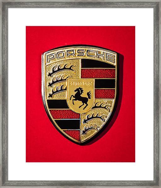 1972 Porsche 911s Emblem - 0047c45new Framed Print