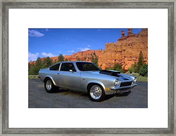 1973 Chevrolet Vega Pro Street Dragster Framed Print