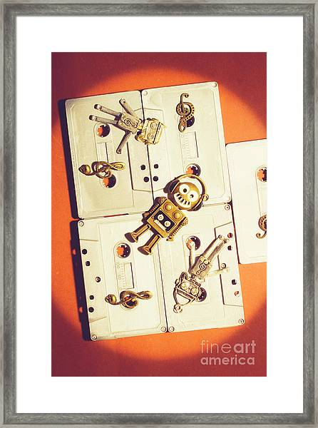 1980s Robot Dancer Framed Print