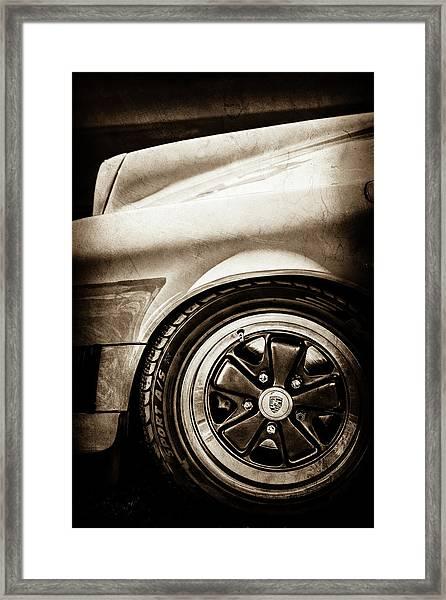 1984 Porsche 911 Carrera Wheel Emblem -2270s Framed Print by Jill Reger