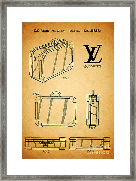 1987 Louis Vuitton Suitcase Patent 1 Framed Print