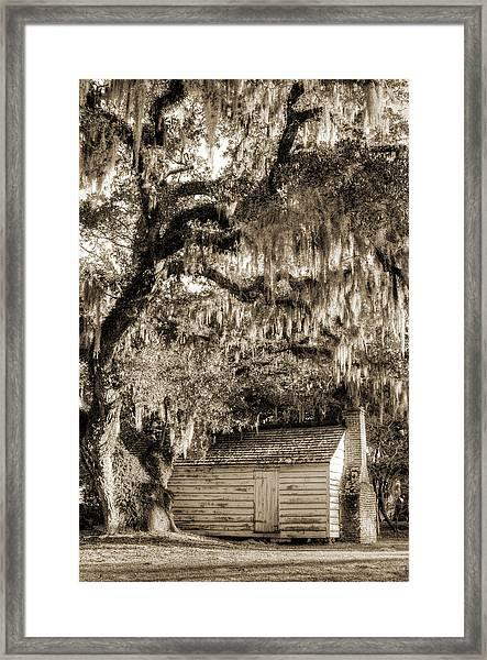 19th Century Slave House Framed Print