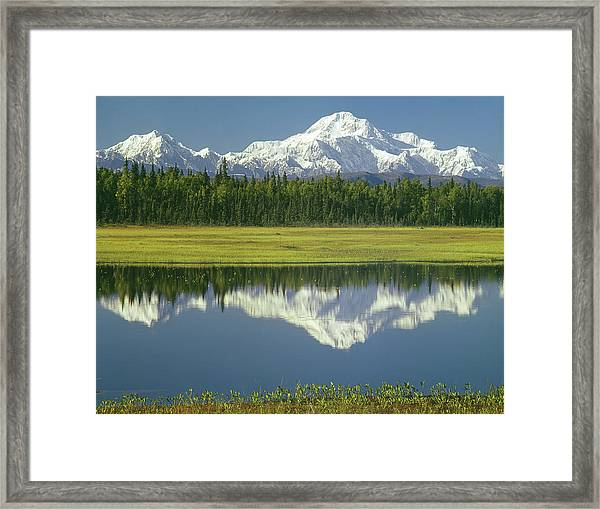 1m1325 Mt. Hunter And Mt. Denali Framed Print