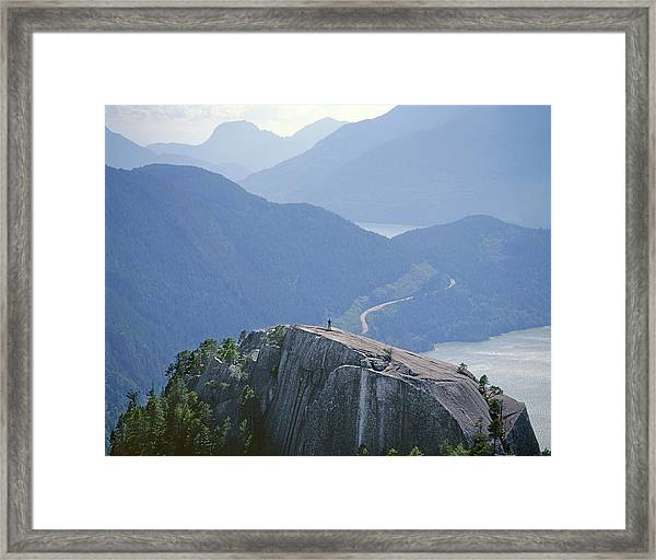 1m2918 South Summit Stawamus Chief From Second Summit Framed Print