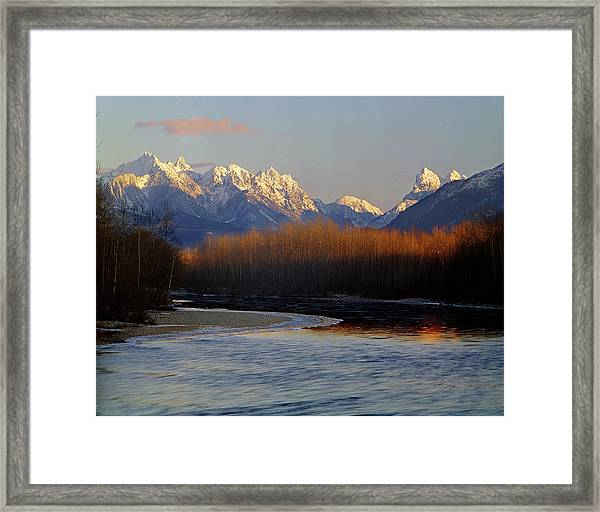 1m4525 Skykomish River And West Central Cascade Mountains Framed Print