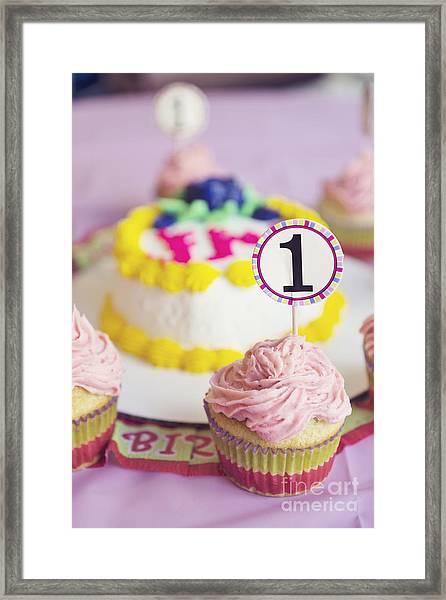 1st Birthday Framed Print