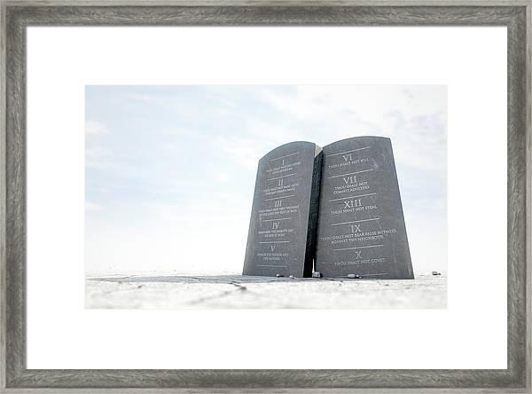 10 Commandments In Desert Framed Print