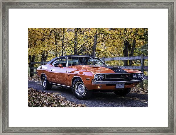 1970 Dodge Challenger Rt  Framed Print