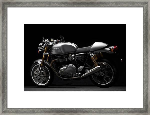 2016 Triumph Thruxton R Framed Print