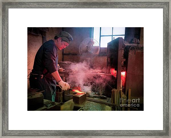4th Generation Blacksmith, Miki City Japan Framed Print
