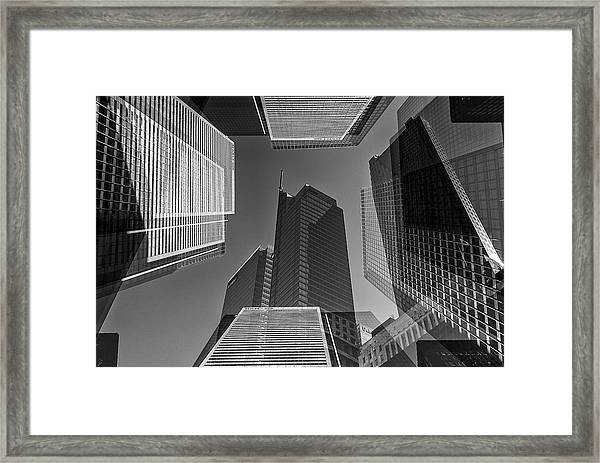 Abstract Architecture - Toronto Financial District Framed Print