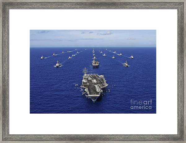 Aircraft Carrier Uss Ronald Reagan Framed Print