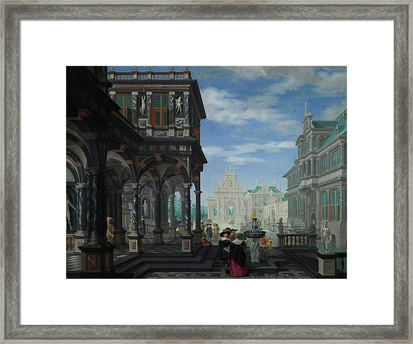 An Architectural Fantasy Framed Print