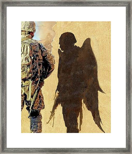 Angel Waiting Framed Print