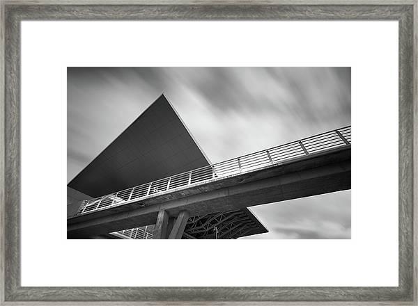 Architectural Details Of Modern Buildings. Framed Print
