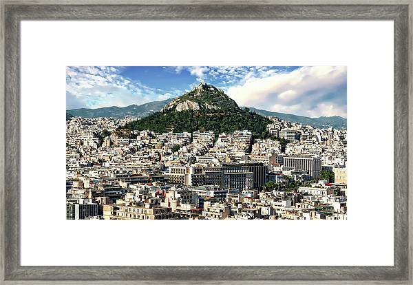 Athens Panorama Framed Print