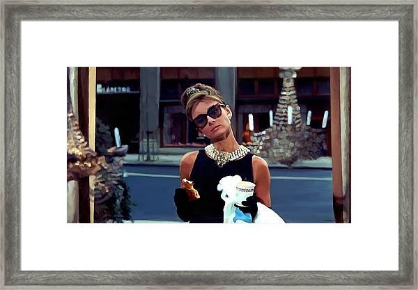 Audrey Hepburn @ Breakfast At Tiffanys Framed Print