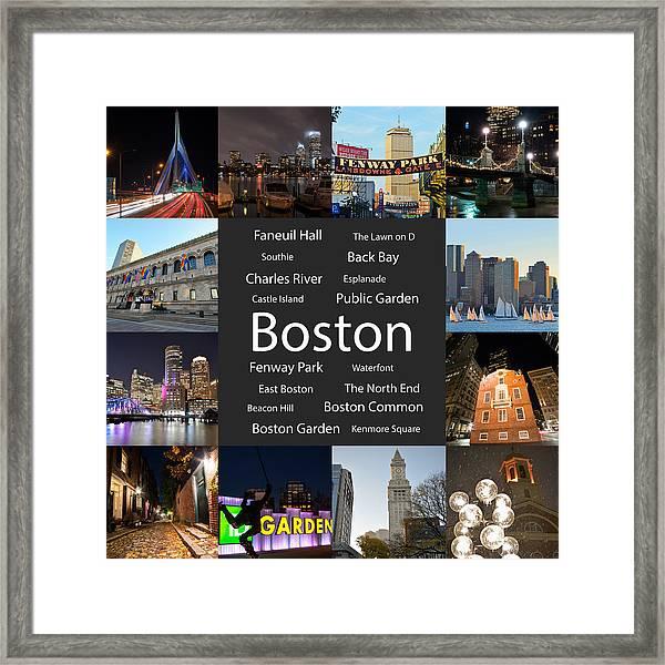 Boston Ma Collage Framed Print