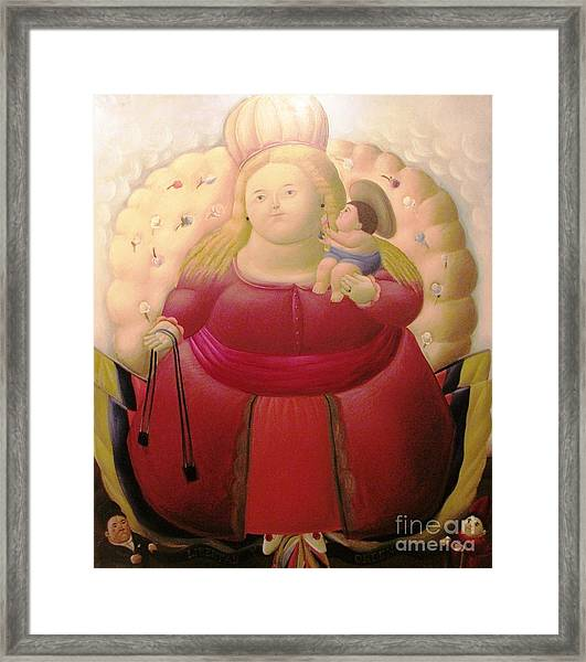 Botero Woman And Child Framed Print