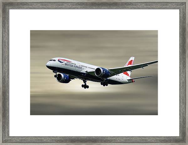 British Airways Boeing 787-8 Dreamliner Framed Print