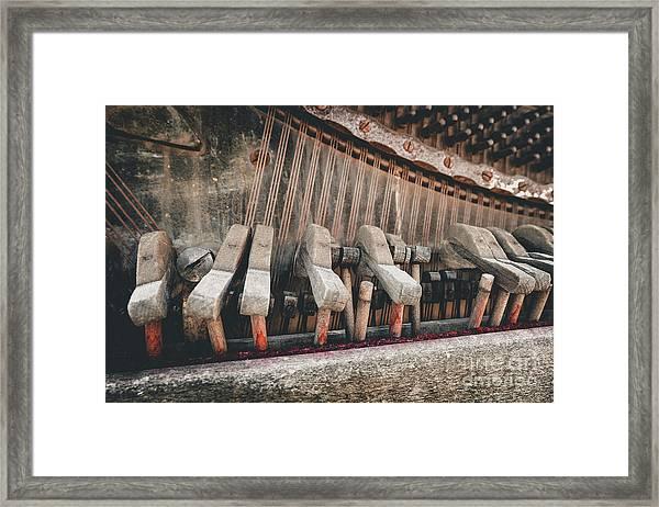 Broken Piano Framed Print