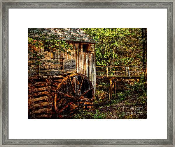 Cades Cove Mill Framed Print