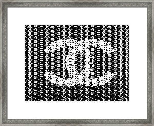 Chanel Black And White Framed Print