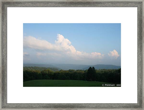 Chapman Family Cemetary Framed Print by Carolyn Postelwait